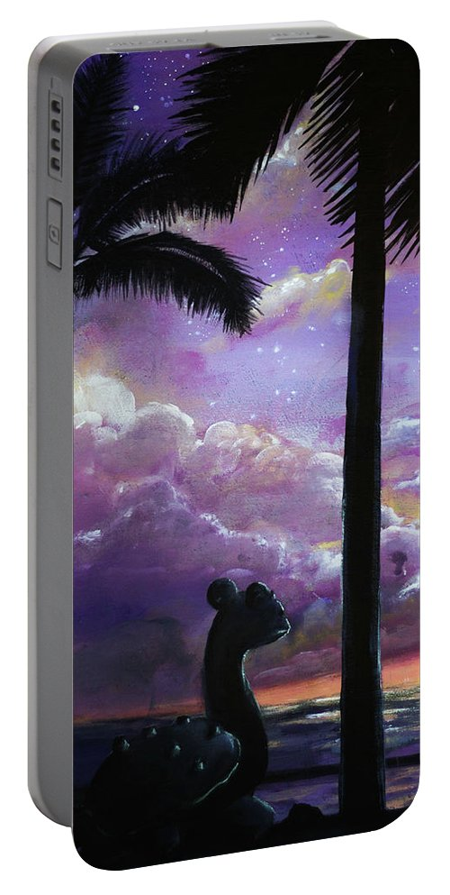 Portable Battery Charger featuring the painting Lapras by Magda Swinya