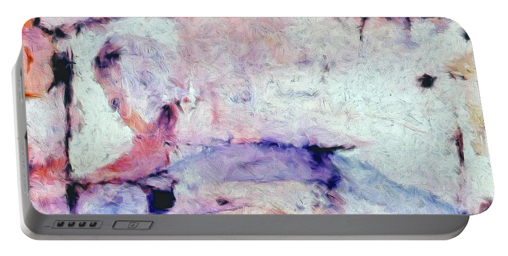 Abstract Portable Battery Charger featuring the painting Laredo by Dominic Piperata
