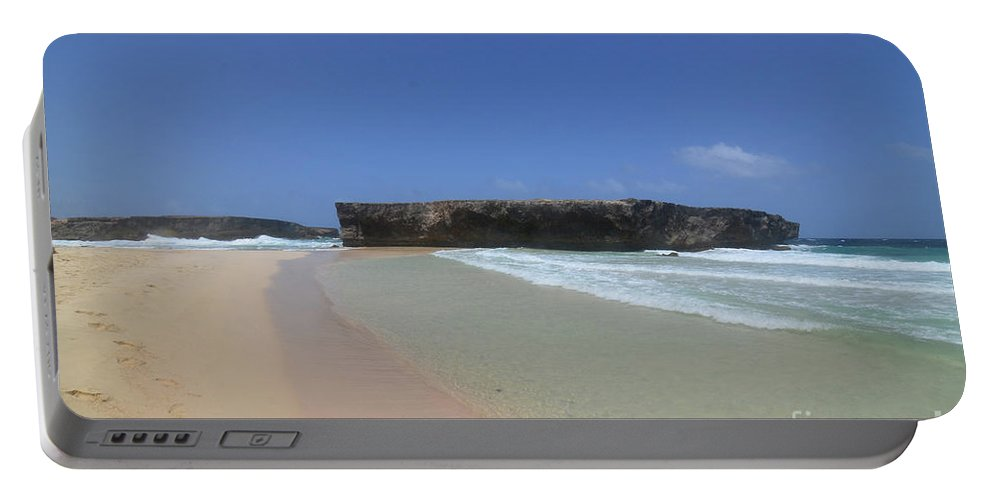 Boca Keto Portable Battery Charger featuring the photograph Large Rock Formation Just Off The Beach At Boca Keto by DejaVu Designs