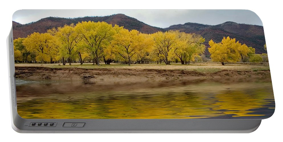 River Portable Battery Charger featuring the photograph Las Animas Fall by Jerry McElroy