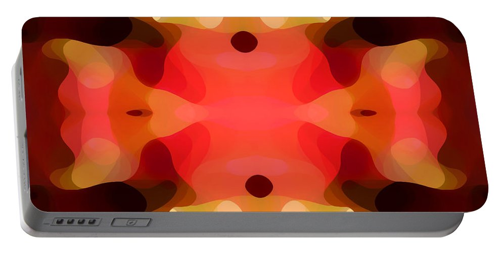 Abstract Painting Portable Battery Charger featuring the digital art Las Tunas Abstract Pattern by Amy Vangsgard