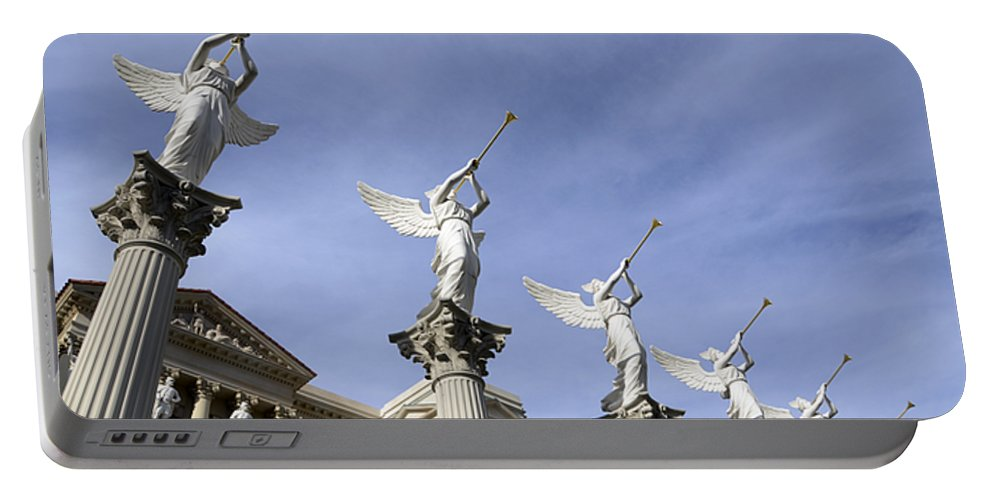 Las Vegas Portable Battery Charger featuring the photograph Las Vegas Angels by Bob Christopher