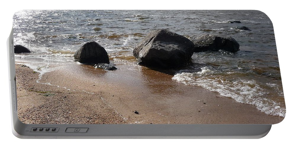 Beach Portable Battery Charger featuring the photograph Last Days Of Summer by Ruth Kamenev