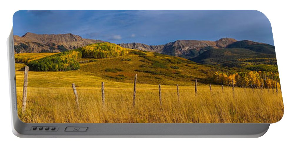 Panoramic Portable Battery Charger featuring the photograph Last Dollar Pano by David Ross