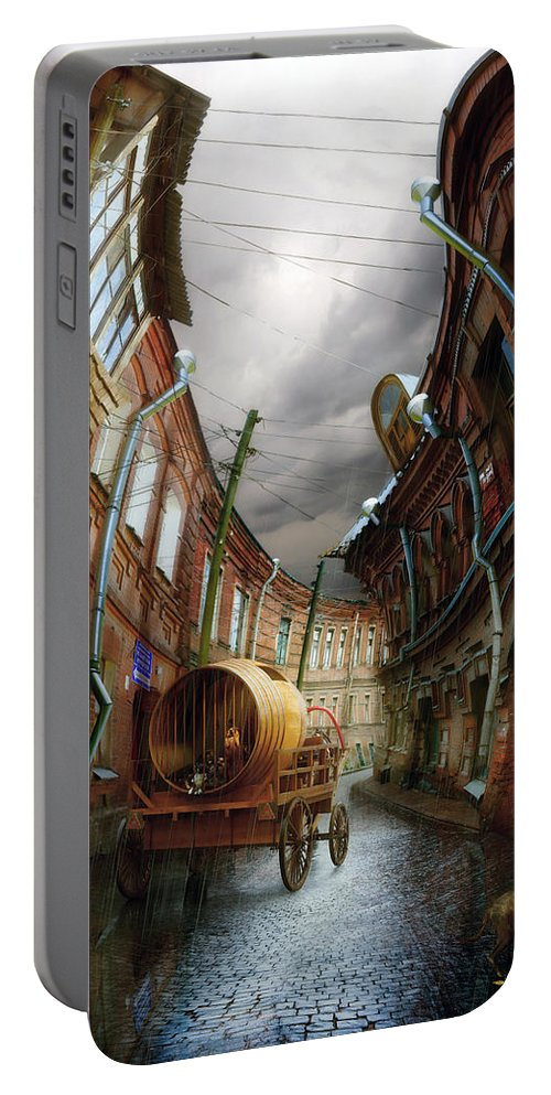 Old Sity Portable Battery Charger featuring the digital art The Last Vagrant by Alexander Kruglov