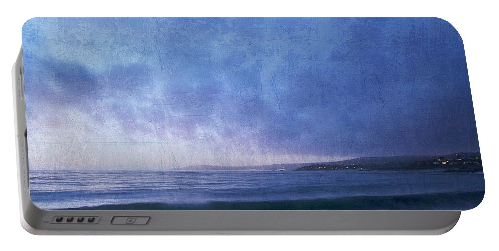 Portable Battery Charger featuring the photograph Last Light On Carmel Bay by Guy Crittenden