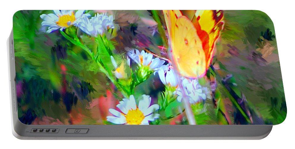 Landscape Portable Battery Charger featuring the painting Last Of The Season by David Lane
