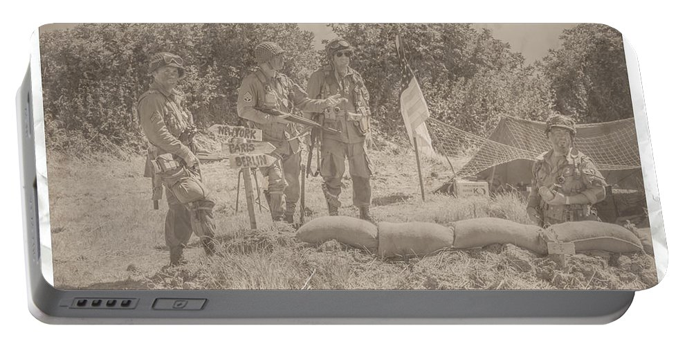 Army Portable Battery Charger featuring the photograph Last Photo Home by Shaun Hopkinson