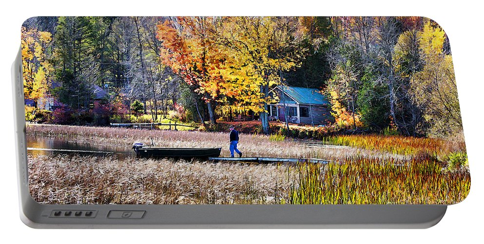 Fall Portable Battery Charger featuring the photograph Last Ride Of The Season by Deborah Benoit
