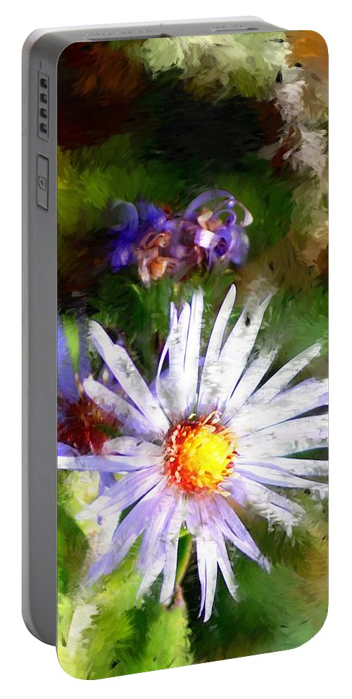Flower Portable Battery Charger featuring the photograph Last Rose Of Summer by David Lane