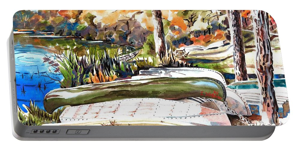 Last Summer In Brigadoon Portable Battery Charger featuring the painting Last Summer In Brigadoon by Kip DeVore