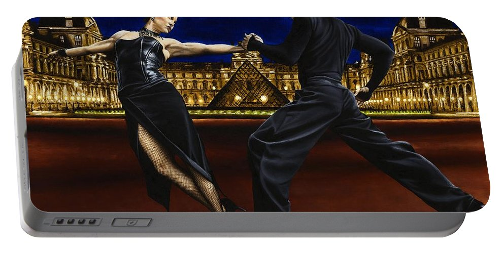 Tango Portable Battery Charger featuring the painting Last Tango In Paris by Richard Young