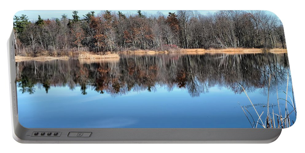 Autumn Portable Battery Charger featuring the photograph Late Autumn Reflections by Deborah Benoit