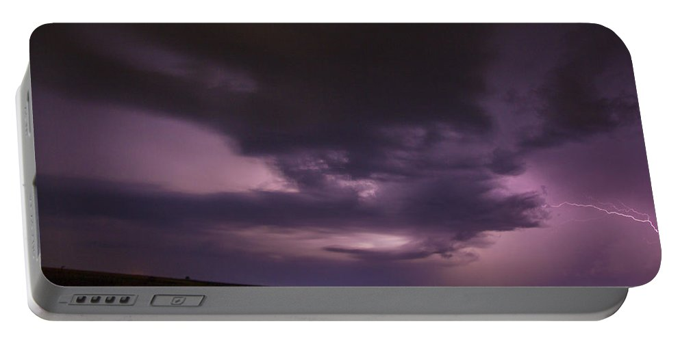 Nebraskasc Portable Battery Charger featuring the photograph Late July Storm Chasing 028 by NebraskaSC