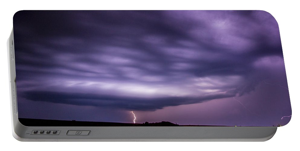 Nebraskasc Portable Battery Charger featuring the photograph Late July Storm Chasing 033 by NebraskaSC
