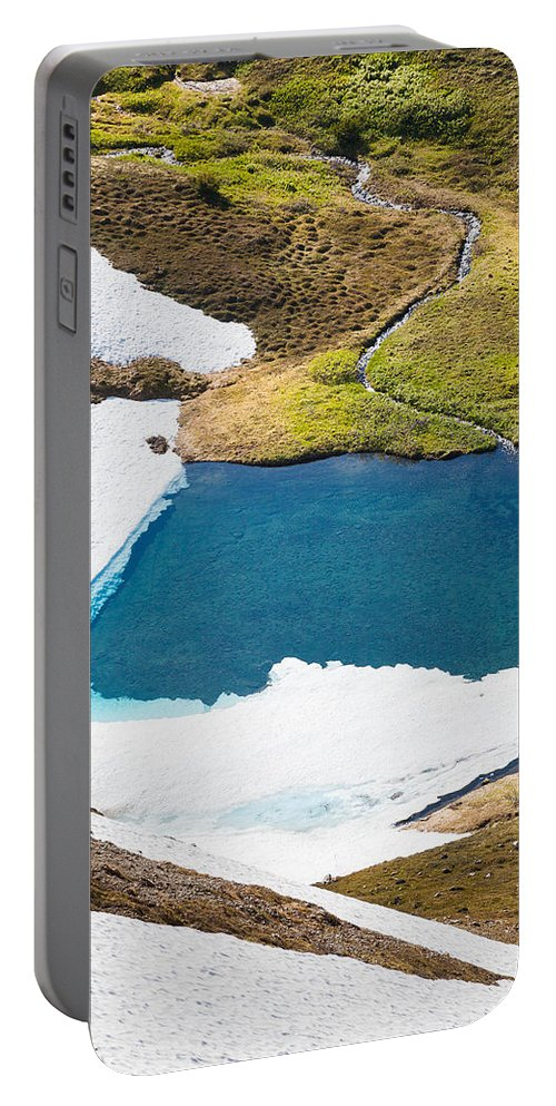 Alaska Portable Battery Charger featuring the photograph Late Thawing Tarn by Tim Newton