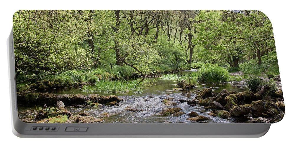 Lathkill River Portable Battery Charger featuring the photograph Lathkill River by Bob Kemp