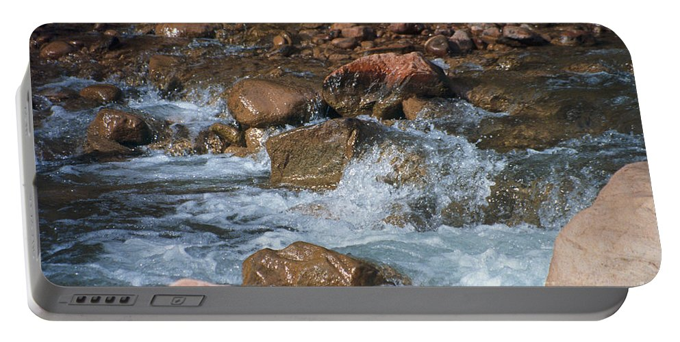 Creek Portable Battery Charger featuring the photograph Laughing Water by Kathy McClure