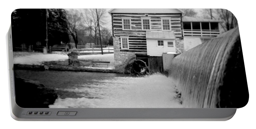 Photograph Portable Battery Charger featuring the photograph Laughlin Mill by Jean Macaluso