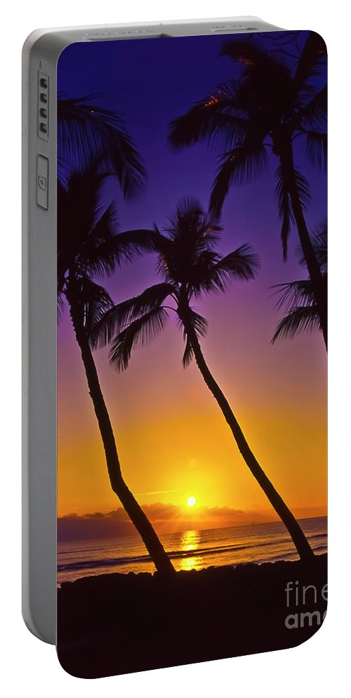 Sunset Portable Battery Charger featuring the photograph Launiupoko Sunset by Jim Cazel