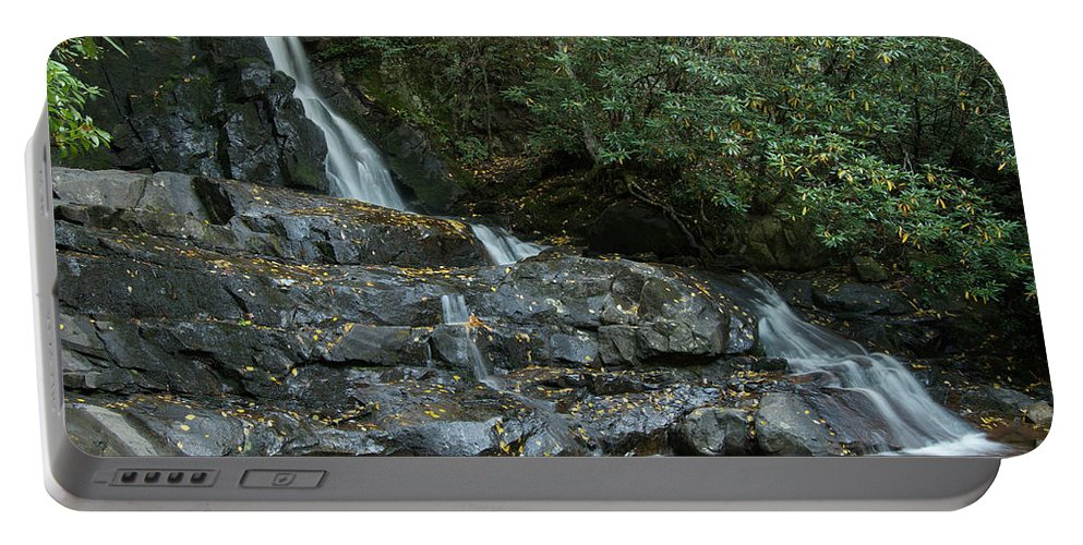Landscape Portable Battery Charger featuring the photograph Laurel Falls 2 by Michael Peychich