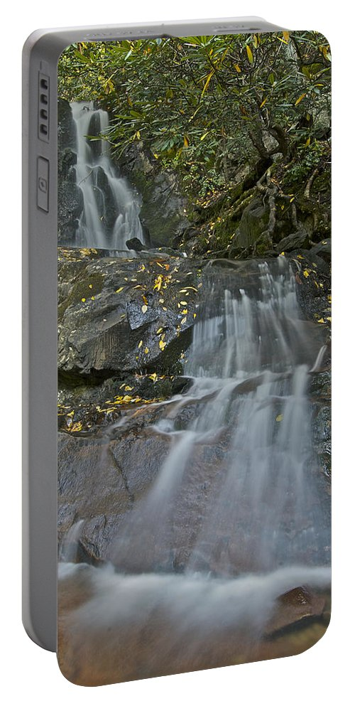 Laurel Falls Portable Battery Charger featuring the photograph Laurel Falls by Michael Peychich