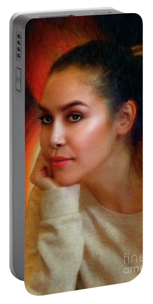 Portable Battery Charger featuring the photograph Lauren Luna by Blake Richards