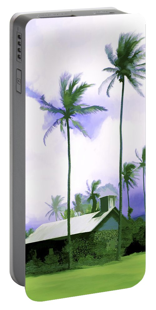 Hawaii Portable Battery Charger featuring the photograph Lava Rock Church by Kurt Van Wagner