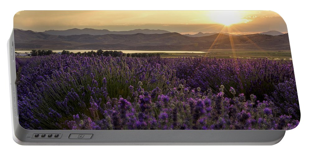 Lavender Glow Portable Battery Charger featuring the photograph Lavender Glow by Chad Dutson