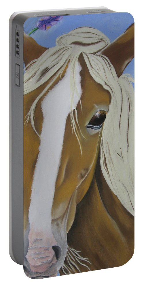 Horse Portable Battery Charger featuring the pastel Lavender Horse by Michelle Hayden-Marsan