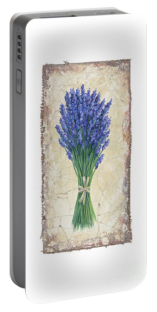 Lavender Portable Battery Charger featuring the painting Lavender II by Danielle Perry
