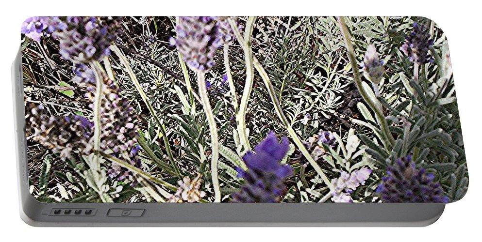 Lavender Portable Battery Charger featuring the digital art Lavender Moment by Winsome Gunning