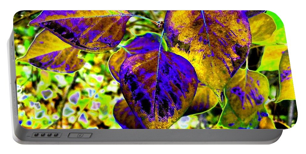 Lavish Leaves Portable Battery Charger featuring the digital art Lavish Leaves 3 by Will Borden
