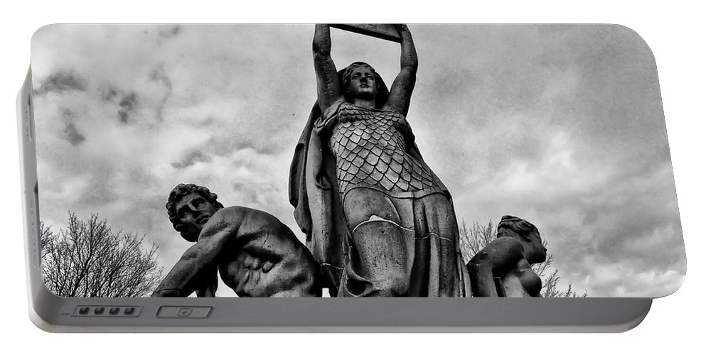 Philadelphia Portable Battery Charger featuring the photograph Law Prosperity And Power by Bill Cannon