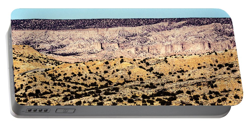 Unreal Portable Battery Charger featuring the photograph Layered Land by Roselynne Broussard