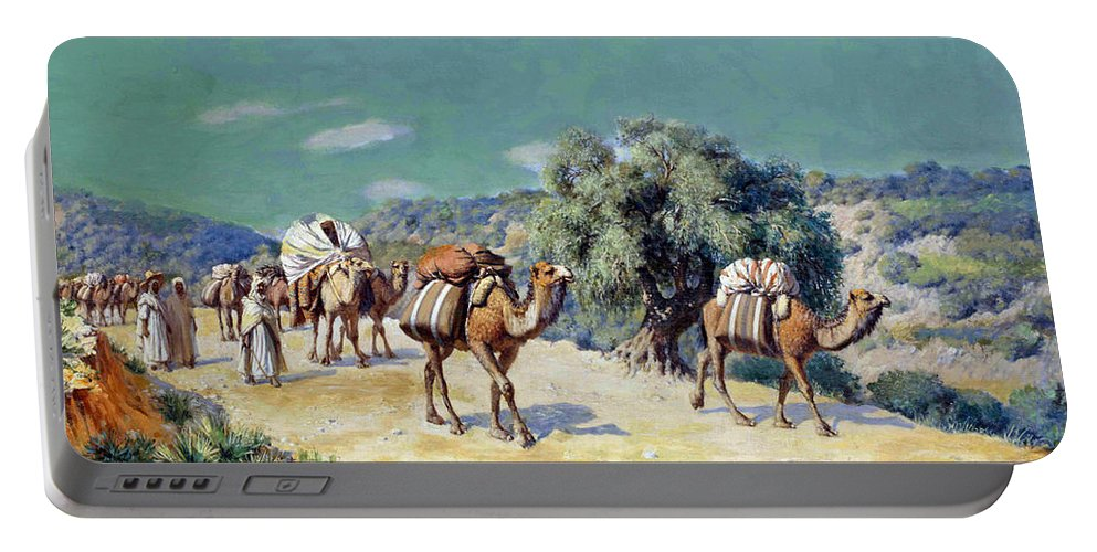 Paul Jeanbaptiste Lazerges Portable Battery Charger featuring the painting Lazerges 1900 by Munir Alawi