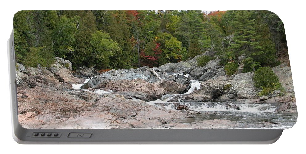 River Portable Battery Charger featuring the photograph Lazy River by Kelly Mezzapelle