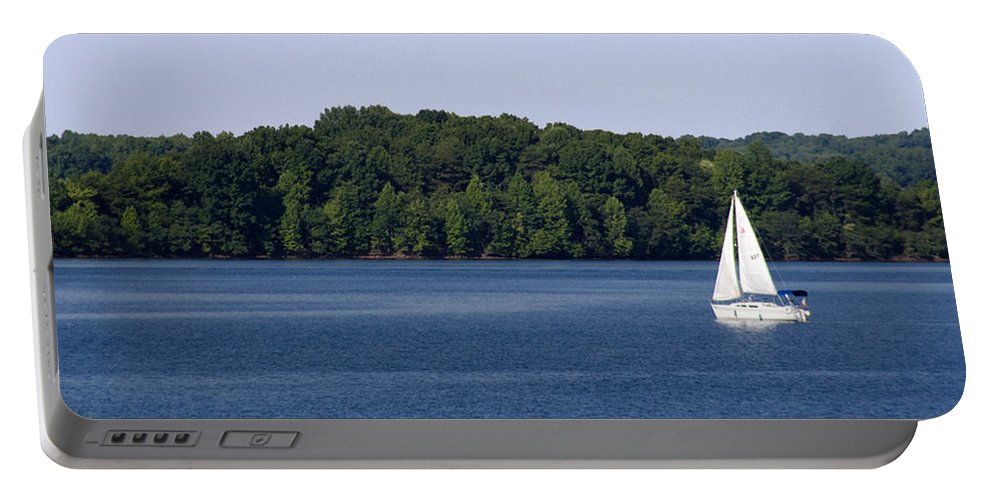 Lake Portable Battery Charger featuring the photograph Lazy Sunday by Jean Macaluso