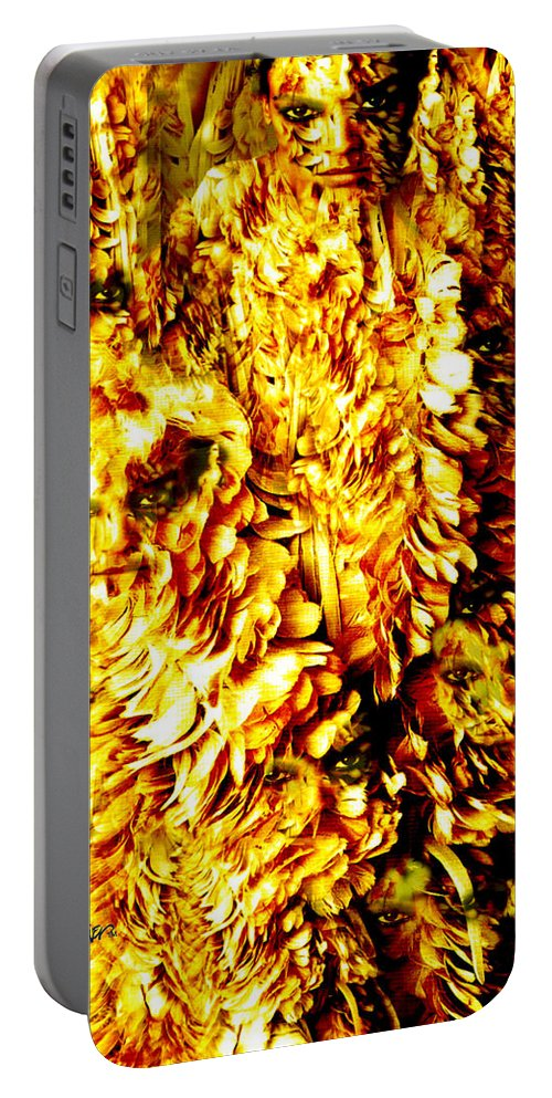 Feathers Portable Battery Charger featuring the digital art Le Flock by Seth Weaver