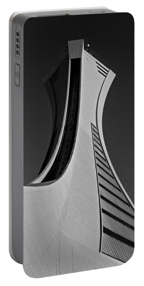 North America Portable Battery Charger featuring the photograph Le Stade Olympique De Montreal by Juergen Weiss