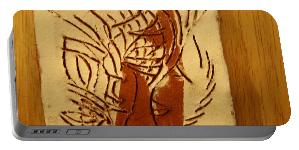 Jesus Portable Battery Charger featuring the ceramic art Leaders - Tile by Gloria Ssali