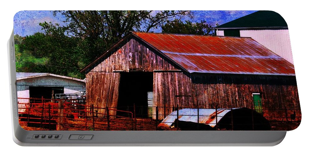 Portable Battery Charger featuring the photograph Lean Too by Kim Blaylock