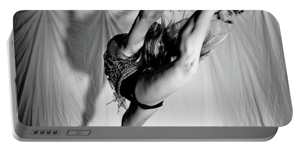 Dance Portable Battery Charger featuring the photograph Leaping In Studio by Scott Sawyer