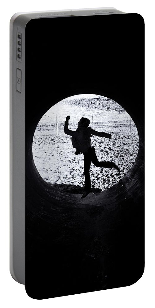 Leaping Portable Battery Charger featuring the photograph Leaping by Scott Sawyer