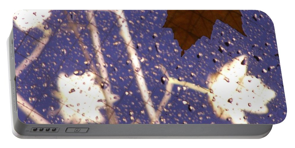 Leaves Portable Battery Charger featuring the photograph Leaves And Rain 2 by Tim Allen