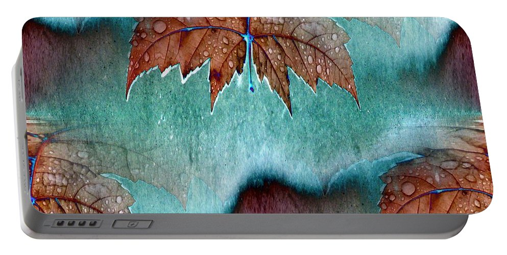Leaves Portable Battery Charger featuring the photograph Leaves And Rain 6 by Tim Allen