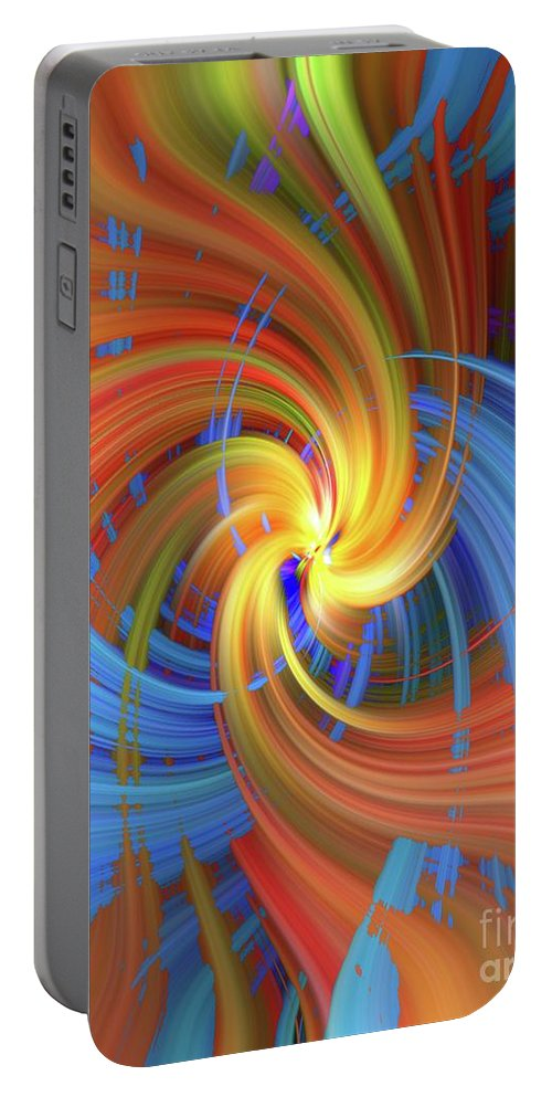 Abstract Portable Battery Charger featuring the photograph Leaves by Brenda Spittle