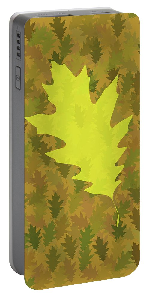 Leaves Portable Battery Charger featuring the digital art Leaves by Bruce