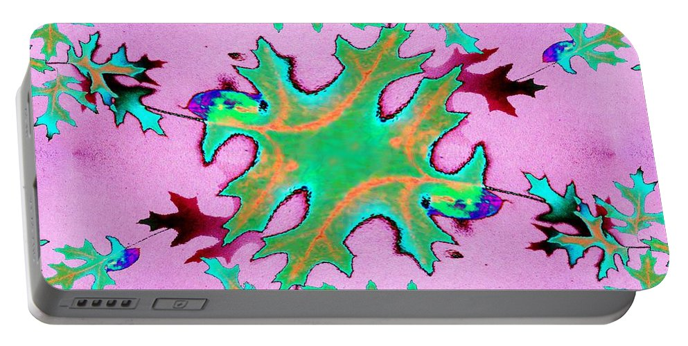Leaf Portable Battery Charger featuring the photograph Leaves In Fractal by Tim Allen