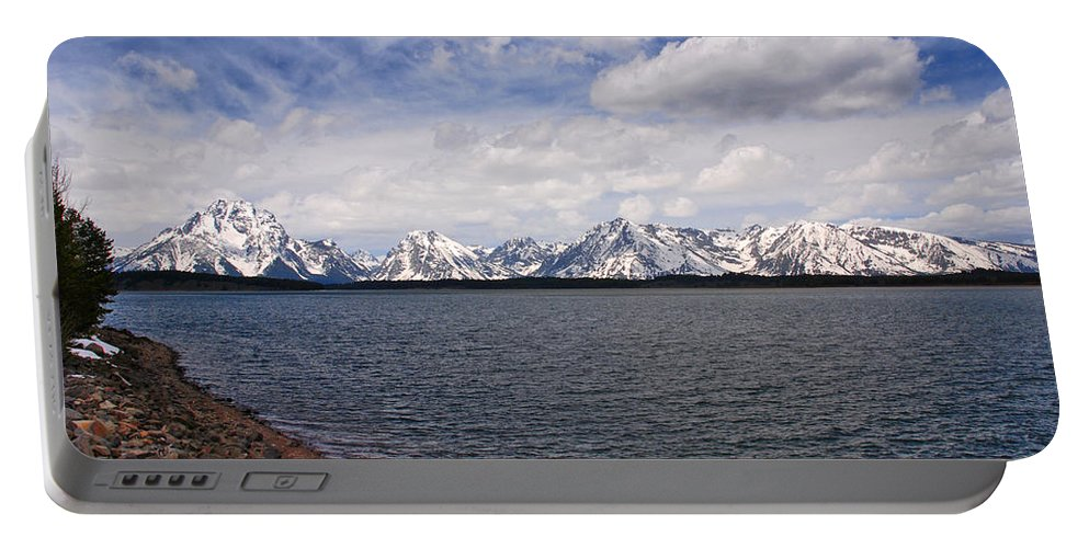 Photography Portable Battery Charger featuring the photograph Leaving The Grand Tetons by Susanne Van Hulst